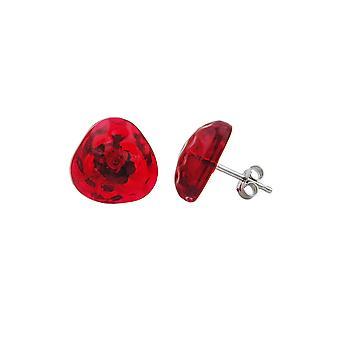 Ohrstecker rot Transparent