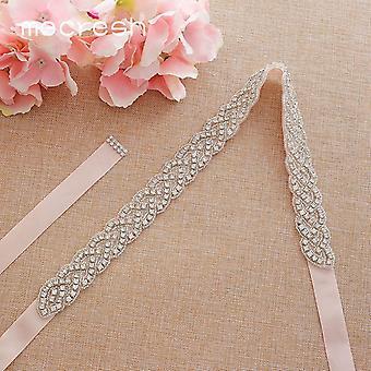 Elegantné kamienky pás stuha svadobný opasok pre svadobné šaty svadba