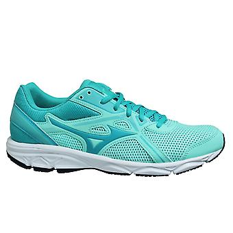 Mizuno Spark 5 Aqua Mint Black Low Lace Up Womens Running Trainers K1GA200436