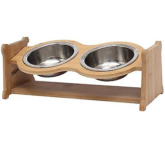 Geyecete Lifting pet bowl cat dining table Cat Bowls Raised Dog Cat Feeder Solid Stand