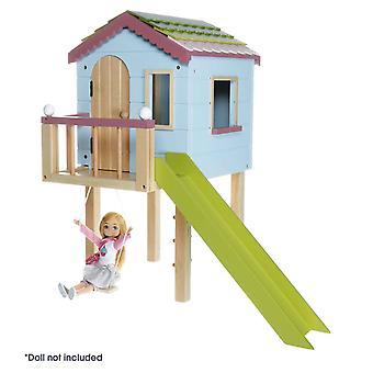 Lottie dollhouse bonecas de madeira casa de madeira | | playset casa boneca de madeira feito com | de madeira real Pintado