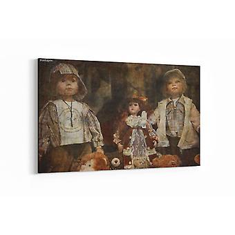 Malerei - Altes Pariser Spielzeuggeschäft - 90x60cm