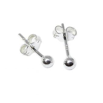 3mm Tiny Sterling Silver Ball Stud Örhängen .925 X 1 Par Bollar Pärlor Dubbar