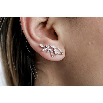 Boucles d'oreilles de coucher du soleil de feuilles de cristal