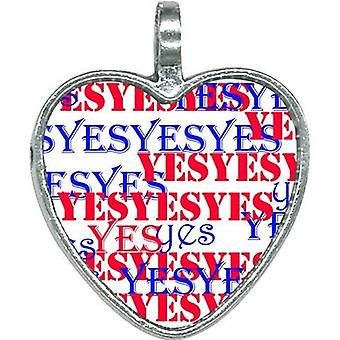 The Yes Stay Positive The Yes Heart Necklace