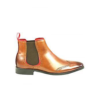 Azor Obuwie Azor Caesar Skóra Chelsea Boot Tan