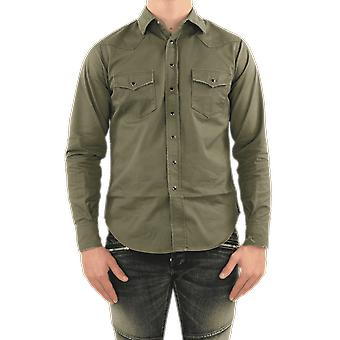 Saint Laurent Classic Western Shirt Used W Green 629966Y596V3253 Haut