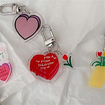 Tulip Cherry Key Buckle, Pencil Case, Heart Shaped Key Chain