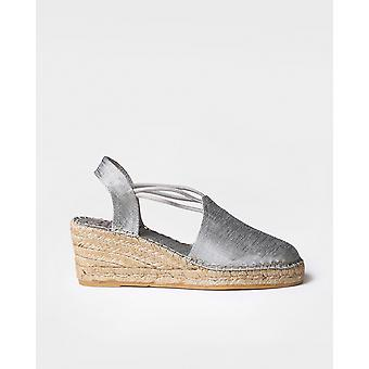 TURIA - Vegan espadrille for woman by Toni Pons made of silk fabric.