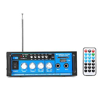 12V/220V 400W Bluetooth Leistungsverstärker Audio Stereo Home Karaoke AMP FM Radio System