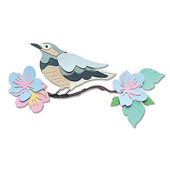 Sizzix Thinlits Die Set - 14pk Spring Bird 665093 Jenna Rushforth