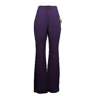 IMAN Women's Pants Pull-On Rayon Purple 722-609