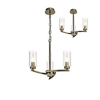 Lámpara Colgante De Diseño Contri 3 Bombillas Latón Antiguo 30 Cm