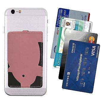 Porte-cartes pour mobile - rose