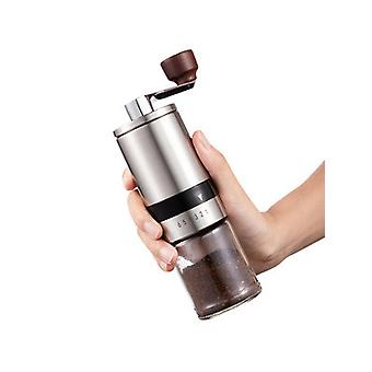 Manual Coffee Grinder With External Adjustments, Ceramic Conical Burr Mill