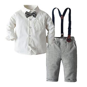 Romper vaatteet setti, vauva kanssa rusetti herrasmies raidallinen kesä puku
