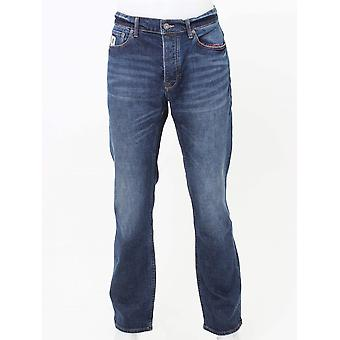 Pretty Green Burnage Regular Fit Jeans - 6 Month Wash
