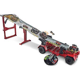 Hot Wheels GFR15 Monster Trucks Downhill Race and Go Track Set, Multicolour, 1.2 m