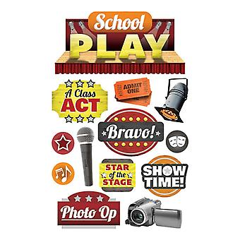Paper House Productions - 3D Stickers - School Play