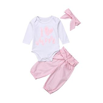 Winter Baby Clothes Set, Pants+headband