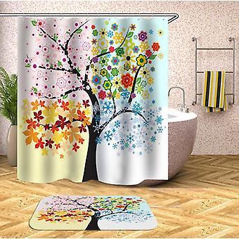 Le rideau de douche d'arbre de quatre saisons