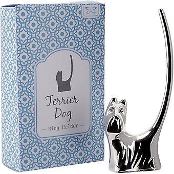 Terrier Dog Ring Holder