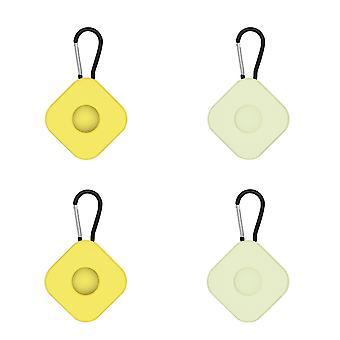 4Pcs Silikon Schutzhülle kompatibel mit Airtags Anti verlorenen Schlüsselbund ac22