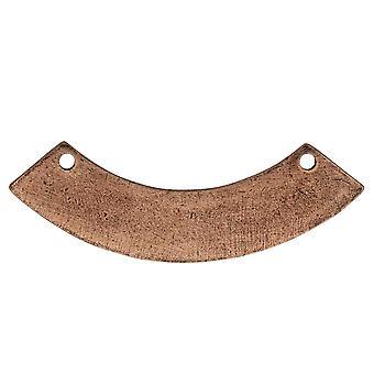 Final Sale - Flat Tag Pendant Link, Curved Arc 10x44mm, Antiqued Copper, 1 Piece, by Nunn Design