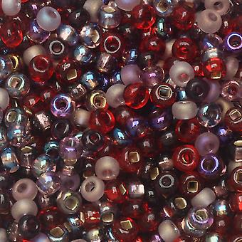 Czech Glass Seed Beads, 8/0 Round, 1 Ounce, Very Very Berry Mix