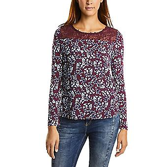 Street One Printed Shirt w.Lace T, Violett (Master Wine 21018), 48 (Size Producer: 42) Woman