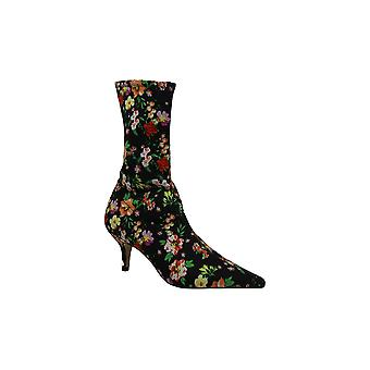 Steve Madden Womens Ramone Floral Fabric Pointed Toe Mid-Calf Fashion Boots