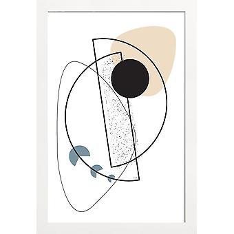 JUNIQE Print - Geometrisk Mobil - Abstrakt &geometrisk plakat i sort /hvid