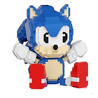 New Building Blocks Sonic Educational Mouse Rabbit Cake Kids Figures Toy Creative Bricks ES7522