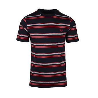 Fred Perry Striped T-shirt Navy