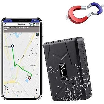 GPS تعقب مع مغناطيس قوي في الوقت الحقيقي GPS تتبع للدراجات النارية سيارة وقت الاستعداد 120 يوما GPS محدد للتطبيق المجاني (أسود)