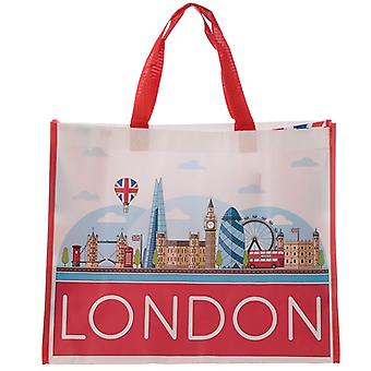 London Icons Langlebige wiederverwendbare Einkaufstasche