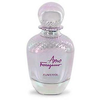 Amo Flowerful Af Salvatore Ferragamo Eau De Toilette Spray (tester) 3,4 Oz (kvinder)