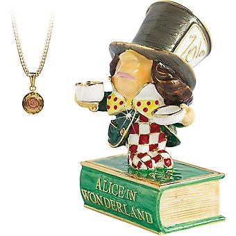 Arora Geheimen van Verborgen Schatten Alice in Wonderland Mad Hatter Trinket Box, Multicolour, One Size