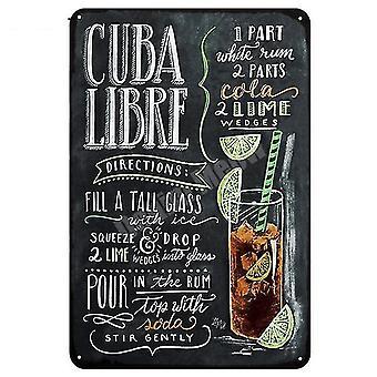 novo 1 tiki bar open verão cerveja retrô metal tin signs art stickers parede decoração sm57035