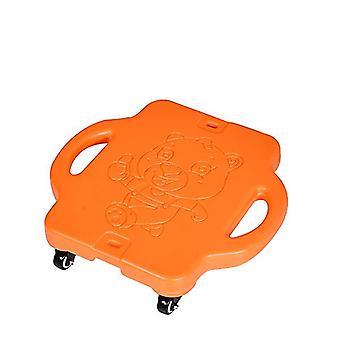 Scuter sport în aer liber din plastic pentru copii cu patru roți(Orange)