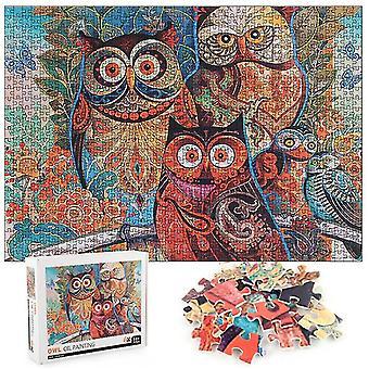1000pcs Owl painting Jigsaw Educational Learning Assembling Jigsaw Toys