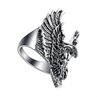 Sterling Silver Rose Gold Owls Ring Animal Owl Jewelry Gifts For Women(7)