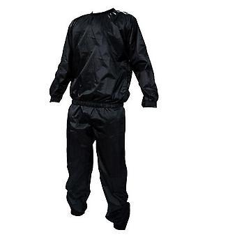 Anti-rip Black Sweat Sauna Suit Exercise Gym Sauna Suit Heavy Duty Fitness