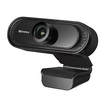 Sandberg USB FHD 2MP Webcam mit Mic 1080p 30fps