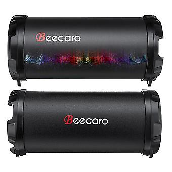 Clear sound quality speakers beecaro s41b portable outdoor bluetooth stereo bass speaker with 1200mah battery support fm radio mi
