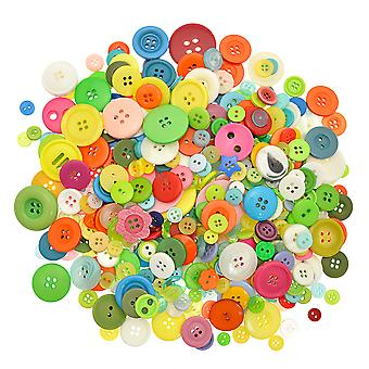 LAST FEW - 500g Assorted Coloured Buttons for Arts & Crafts