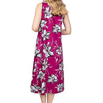 Cyberjammies Natasha 4942 Women's Pink Floral Cotton Nightdress
