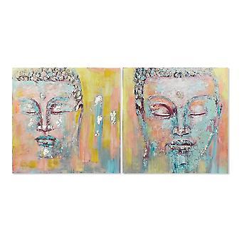 Tavla DKD Home Decor Buda (100 x 3.5 x 100 cm)