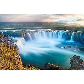 Tapeta Mural Wodospad Godafoss na Islandii