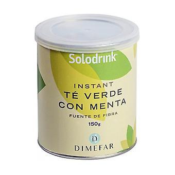 Solodrink Green Tea, Fiber, Mint Can 150 g of powder